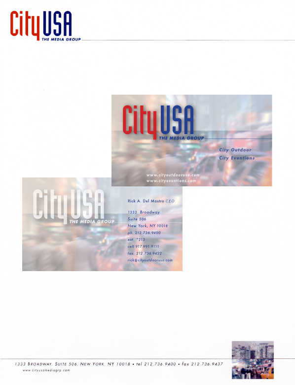 City USA – Stationary