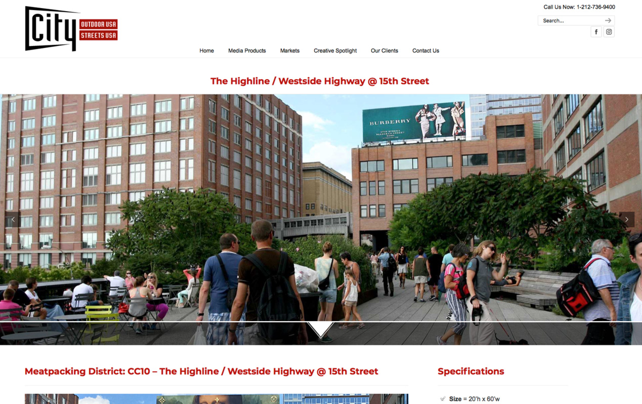 CityOutdoorUSA.com – Product page 1