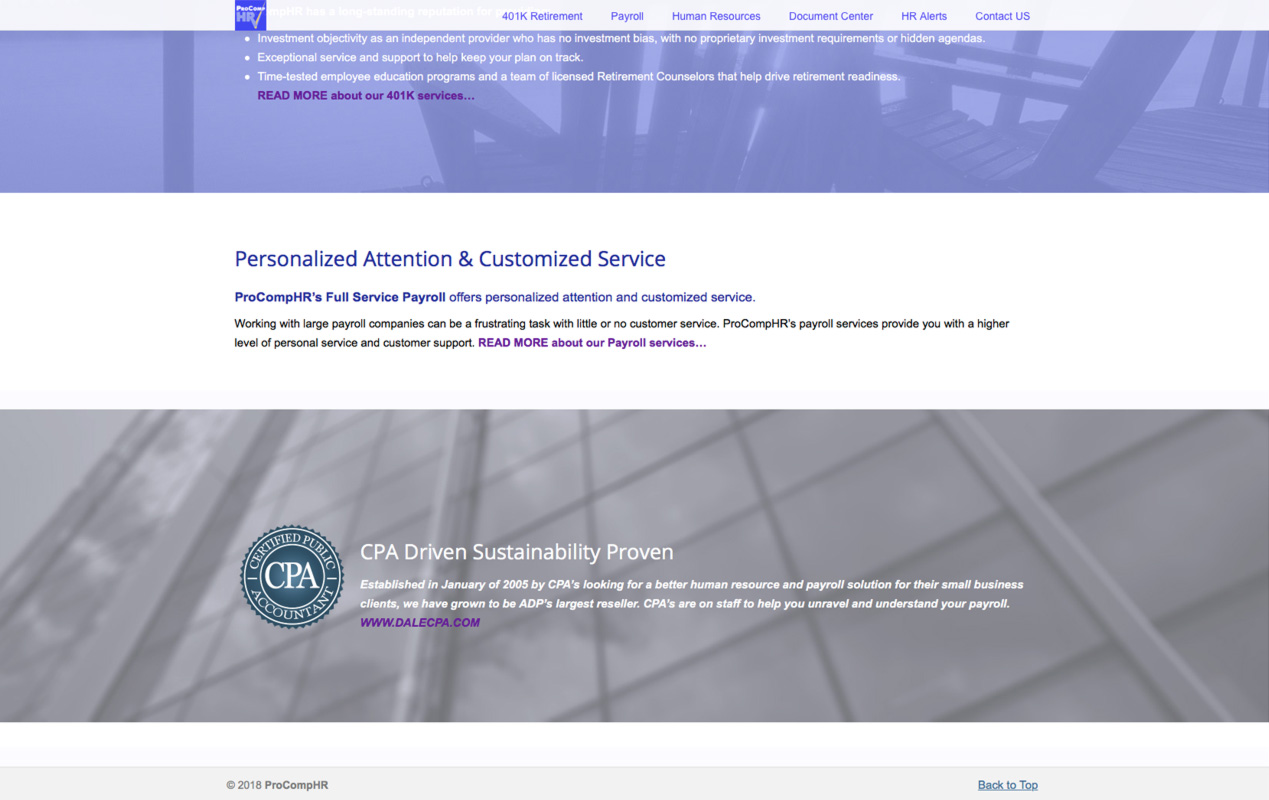 ProCompHR – Homepage 1